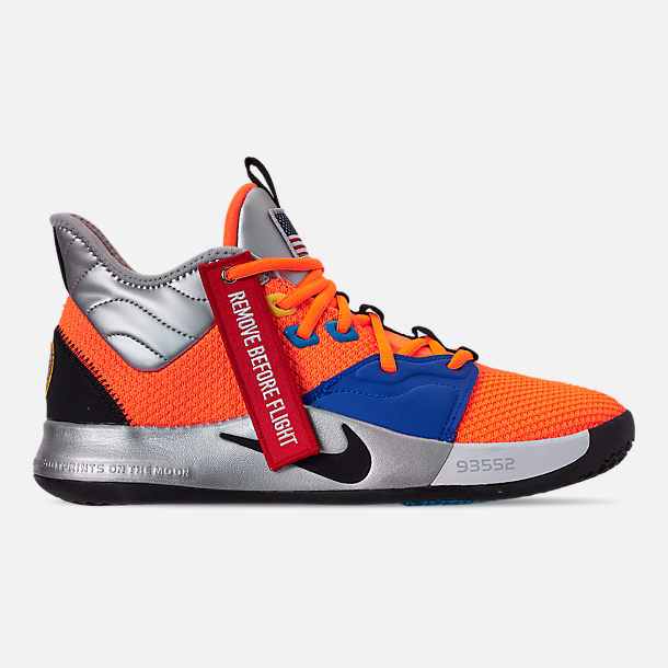 a302ec76549f Right view of Men s Nike PG 3 x NASA Basketball Shoes in Total Orange Black