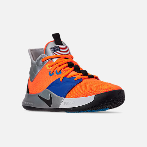 9510ce8d5d3a Three Quarter view of Men s Nike PG 3 x NASA Basketball Shoes in Total  Orange