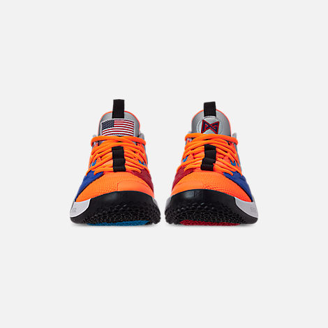 1fec38618a0b Front view of Men s Nike PG 3 x NASA Basketball Shoes in Total Orange Black