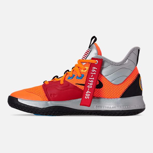 396bac7f973e Left view of Men s Nike PG 3 x NASA Basketball Shoes in Total Orange Black