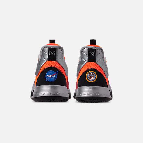 e380cf4a4d55 Back view of Men s Nike PG 3 x NASA Basketball Shoes in Total Orange Black