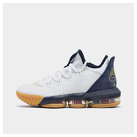 wholesale dealer 628d3 5b344 Men's Lebron 16 Low Basketball Shoes, White - Size 11.0