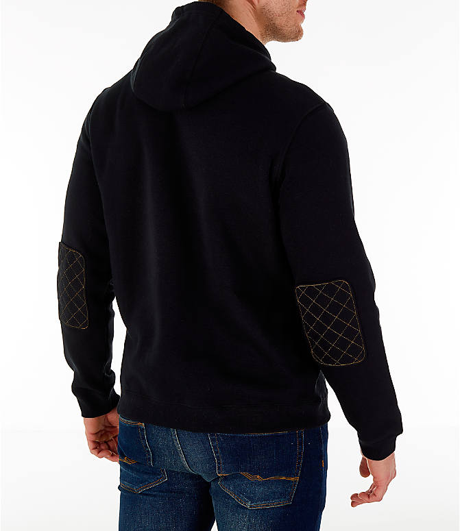 Back Right view of Men's Nike Sportswear Realtree Hoodie in Black/Realtree