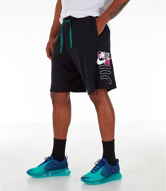 c9141ab794e Front view of Men's Nike Sportswear Futura Alumni Fleece Shorts in Black