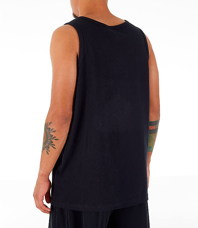 Back Left view of Men's Nike Sportswear Retro Future Tank in Black