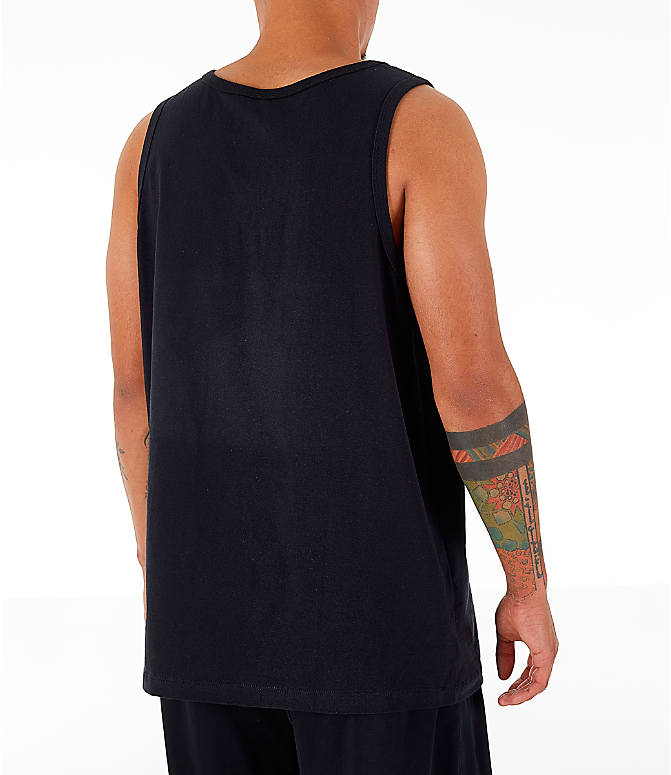 Back Right view of Men's Nike Sportswear Retro Future Tank in Black