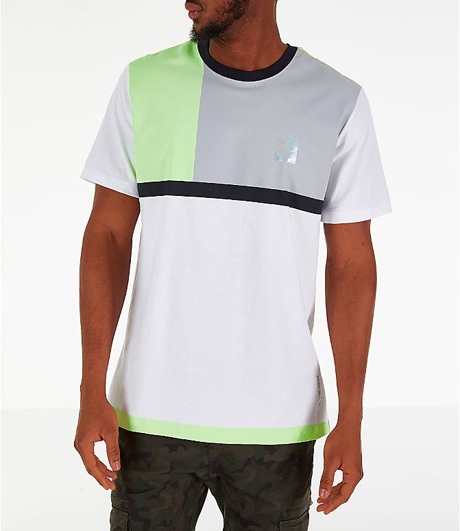 Front view of Men's Nike Y2K T-Shirt in White/Volt
