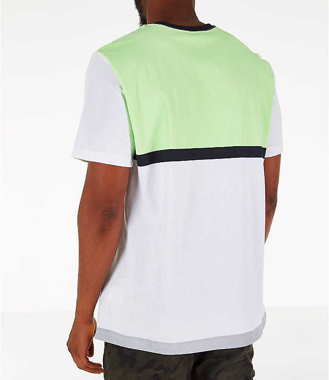 Back Left view of Men's Nike Y2K T-Shirt in White/Volt