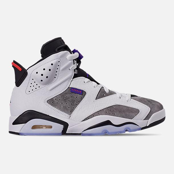 979badfaabeb6 Right view of Men s Jordan Retro 6 LTR Basketball Shoes in Light Armory  Blue Dark