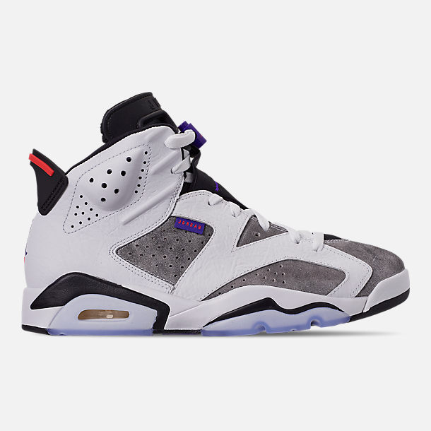 Right view of Men's Jordan Retro 6 LTR Basketball Shoes in Light Armory Blue/Dark Concord/Obsidian