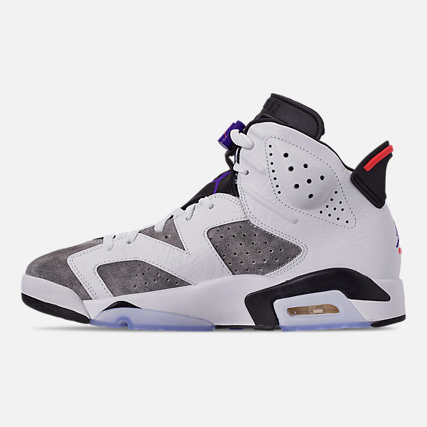 Left view of Men's Jordan Retro 6 LTR Basketball Shoes in Light Armory Blue/Dark Concord/Obsidian