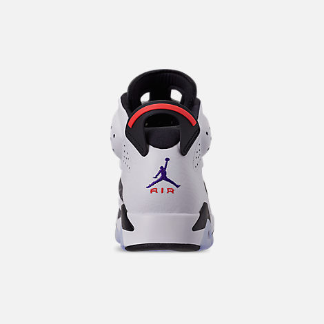 Back view of Men's Jordan Retro 6 LTR Basketball Shoes in Light Armory Blue/Dark Concord/Obsidian
