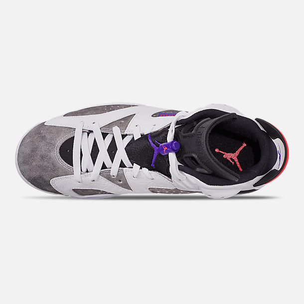 Top view of Men's Jordan Retro 6 LTR Basketball Shoes in Light Armory Blue/Dark Concord/Obsidian