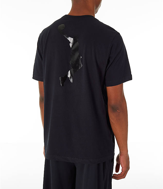 Back Right view of Men's Nike LeBron James I'm King T-Shirt in Black