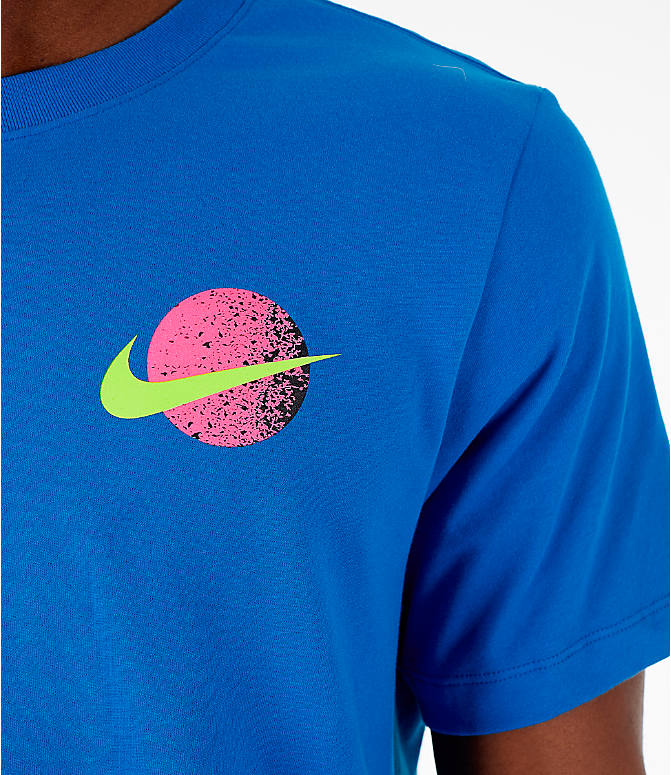 Detail 1 view of Men's Nike 90's Basketball T-Shirt in Blue Nebula