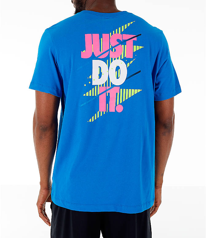 Front view of Men's Nike 90's Basketball T-Shirt in Blue Nebula