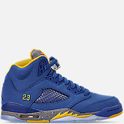 Big Kids' Air Jordan Retro 5 Laney JSP Basketball Shoes