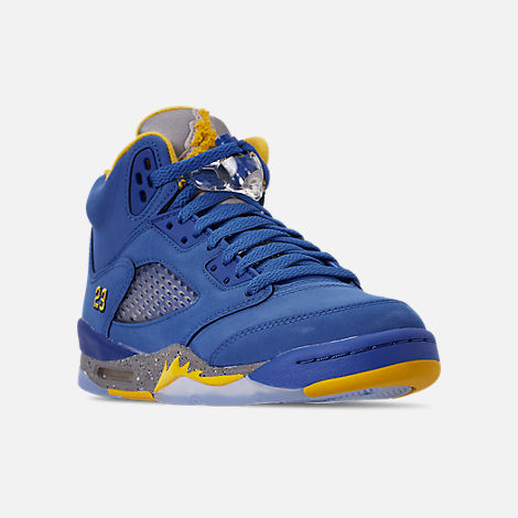 Big Kids' Air Jordan Retro 5 Laney Jsp Basketball Shoes by Nike