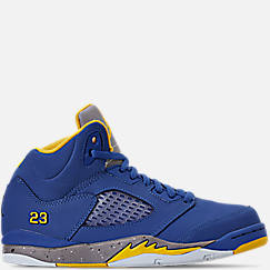 Little Kids' Air Jordan Retro 5 Laney JSP Basketball Shoes