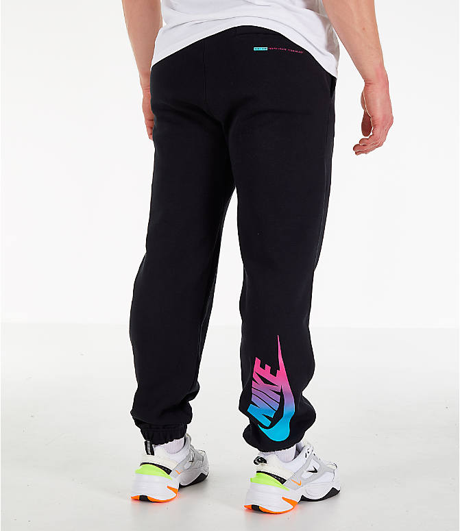8af92fceefb595 Front view of Men s Nike Sportswear Club City Brights Jogger Pants in  Black Blue Fury