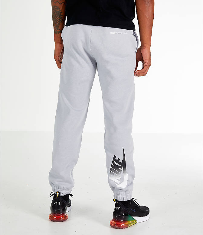 Front view of Men's Nike Sportswear Club City Brights Jogger Pants in Wolf Grey