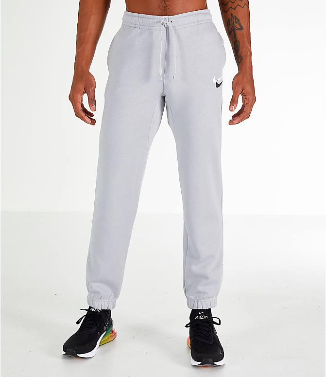 Front Three Quarter view of Men's Nike Sportswear Club City Brights Jogger Pants in Wolf Grey