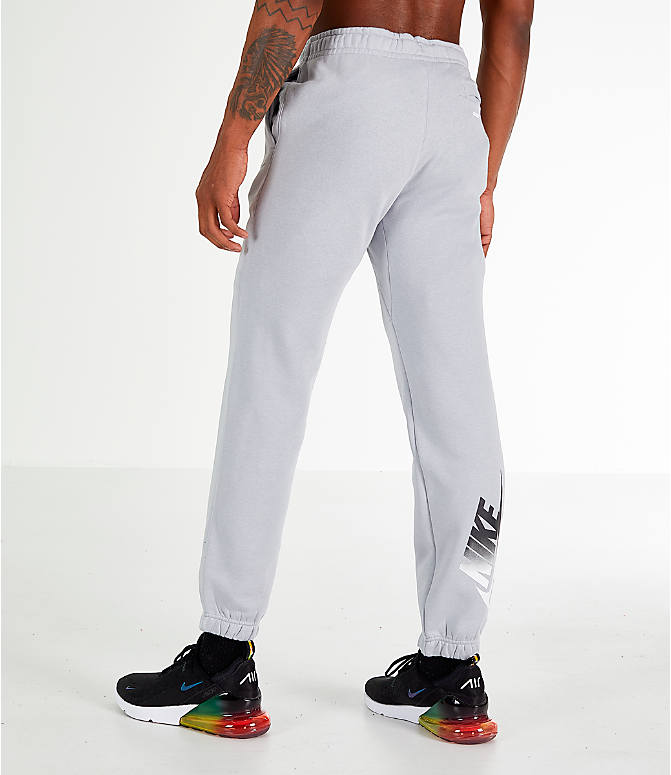 Back Right view of Men's Nike Sportswear Club City Brights Jogger Pants in Wolf Grey