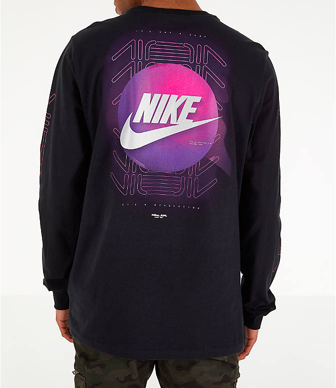 Front view of Men's Nike Sportswear Future Long-Sleeve T-Shirt in Black