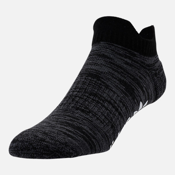 Front view of Men's adidas NMD No-Show Socks in Black/Grey