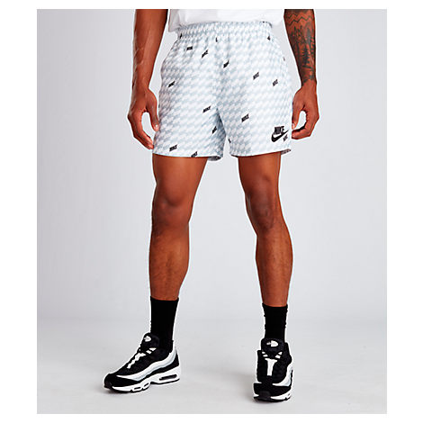 Nike Men's Sportswear Hybrid Allover Print Woven Shorts In White