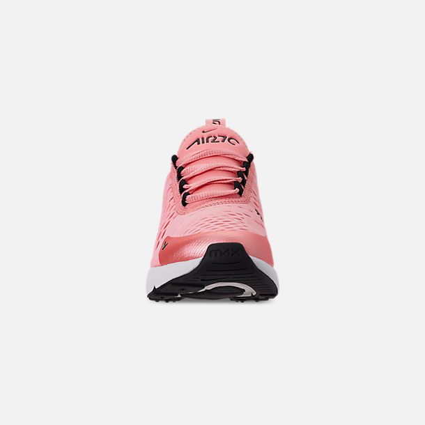 Front view of Girls' Big Kids' Nike Air Max 270 Casual Shoes in Bleached Coral/Black/White/Anthracite