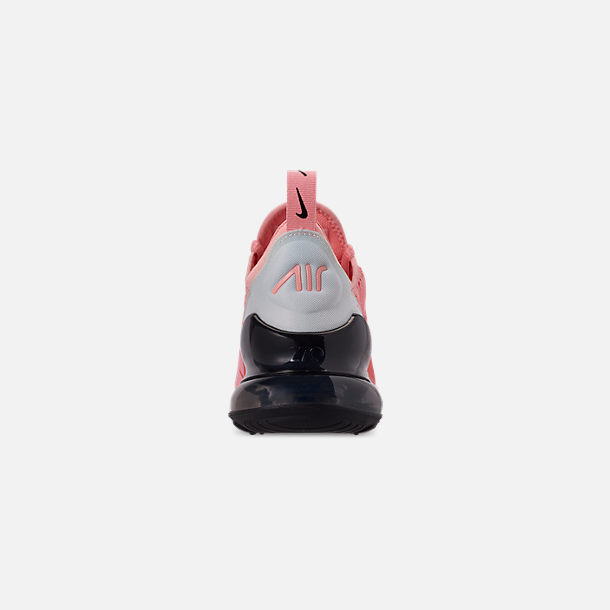 Back view of Girls' Big Kids' Nike Air Max 270 Casual Shoes in Bleached Coral/Black/White/Anthracite