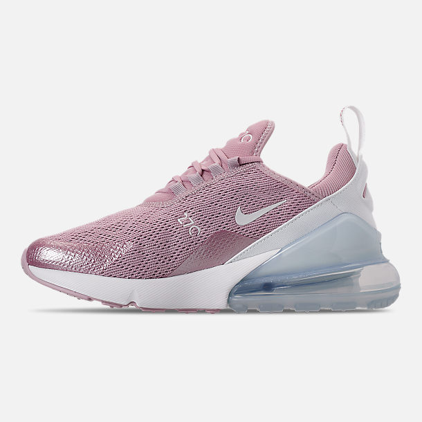 Left view of Women's Nike Air Max 270 Casual Shoes in Plum Chalk/Summit White/Metallic Silver
