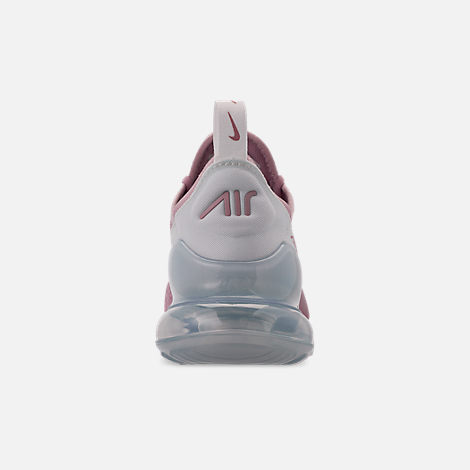 Back view of Women's Nike Air Max 270 Casual Shoes in Plum Chalk/Summit White/Metallic Silver