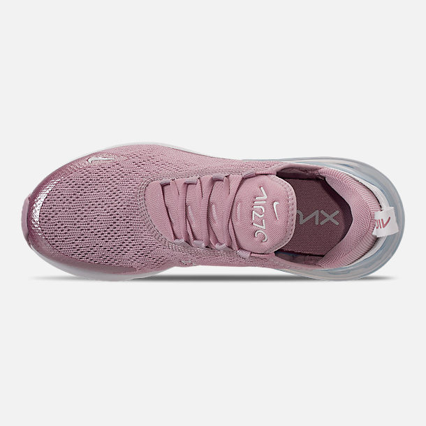 Top view of Women's Nike Air Max 270 Casual Shoes in Plum Chalk/Summit White/Metallic Silver