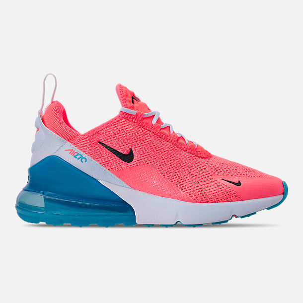 Right view of Women's Nike Air Max 270 Casual Shoes in Lava Glow/Black/Metallic Silver