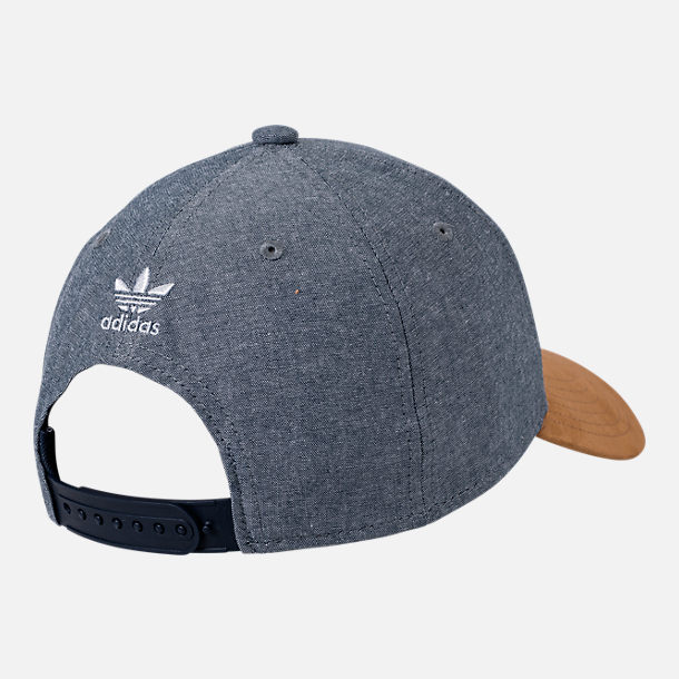 Alternate view of Men's adidas Originals Trefoil Plus Precurve Snapback Hat in Tan