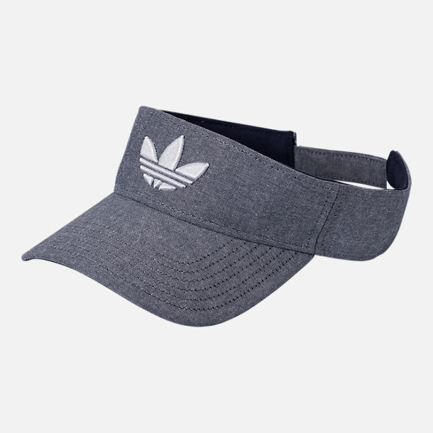 Front view of adidas Originals Trefoil Plus Visor in Tan
