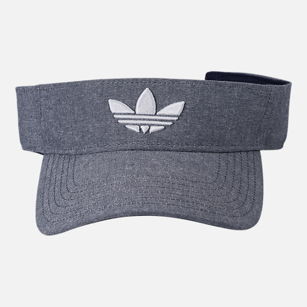 Back view of adidas Originals Trefoil Plus Visor in Tan