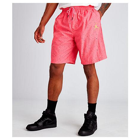 766831b6e23 Nike Men's Air Jordan Jumpman Cement Poolside Training Shorts, Pink ...
