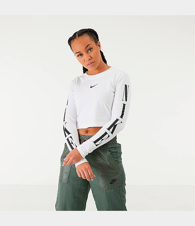Women's Nike Sportswear Graphic Crop Long Sleeve T Shirt