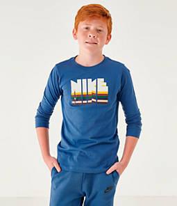 Boys' Nike Sportswear Graphic Long-Sleeve T-Shirt