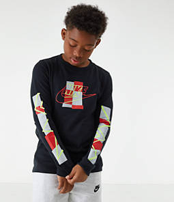 Kids' Nike Sportswear Futura Shapes Long-Sleeve T-Shirt