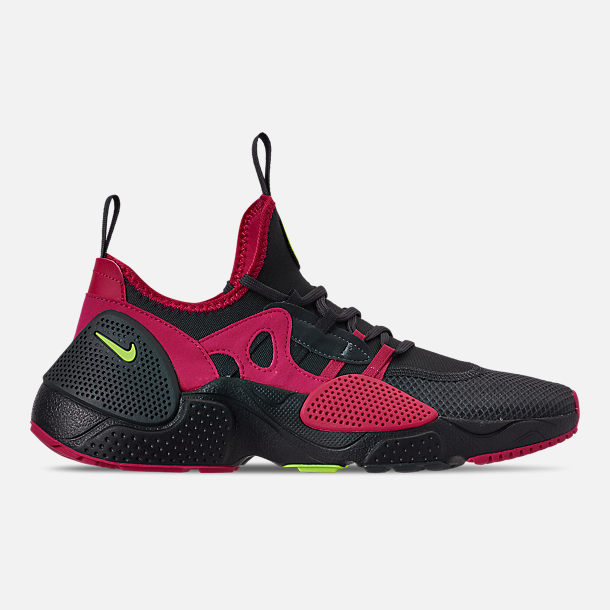Right view of Men's Nike Huarache E.D.G.E. TXT Running Shoes in Anthracite/Volt/Black/Rush Pink