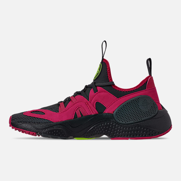 Left view of Men's Nike Huarache E.D.G.E. TXT Running Shoes in Anthracite/Volt/Black/Rush Pink