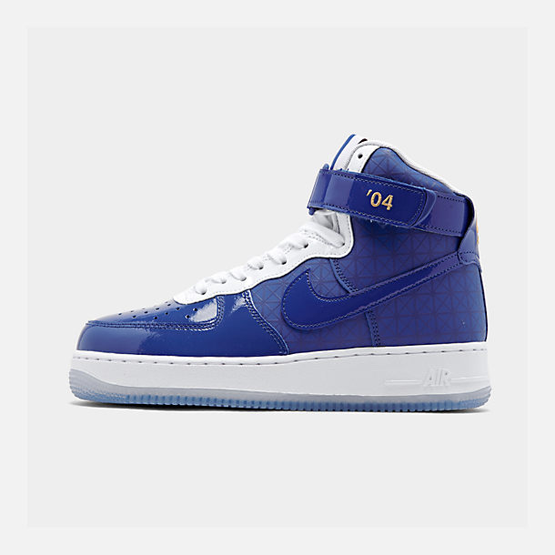 Right view of Men's Nike Air Force 1 High '07 LV8 Casual Shoes in Game Royal/Game Royal/White