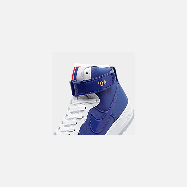 Front view of Men's Nike Air Force 1 High '07 LV8 Casual Shoes in Game Royal/Game Royal/White