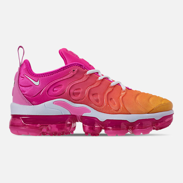 b27c65a1b47 Right view of Women s Nike Air VaporMax Plus Casual Shoes in Laser  Fuchsia White