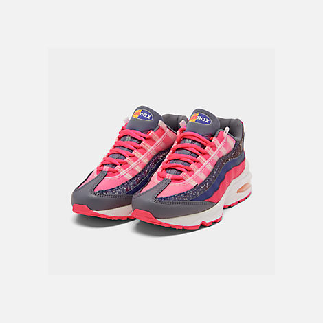 2d84e51391bb Three Quarter view of Girls  Big Kids  Nike Air Max 95 SE Casual Shoes