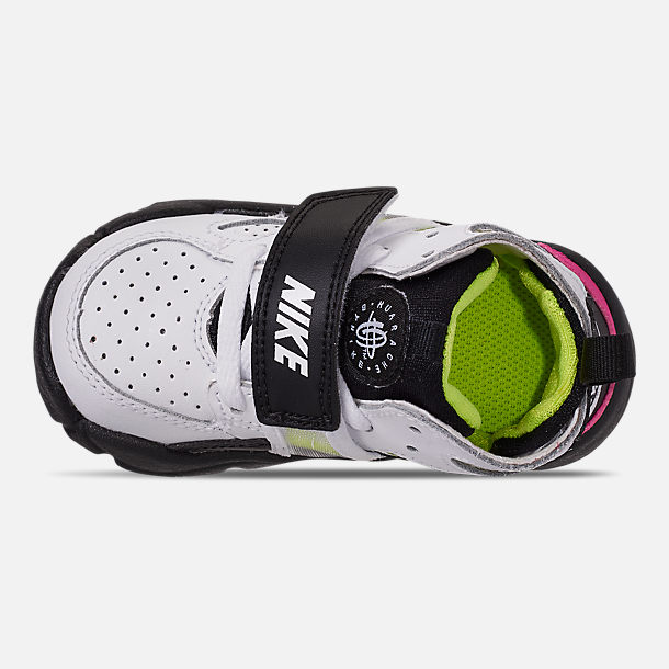 dffb064915199 Top view of Boys  Toddler Nike Trainer Huarache Training Shoes in White  Black
